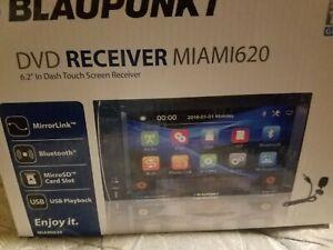 """New open box BLAUPUNKT MIAMI 620 6.2"""" TOUCHSCREEN DVD RECEIVER BLUETOOTH"""