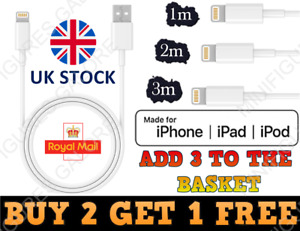 USB Cable For iPhone 7 8 6 5 X 11 12 Long Charger Charging Data Lead 1m 2m 3m
