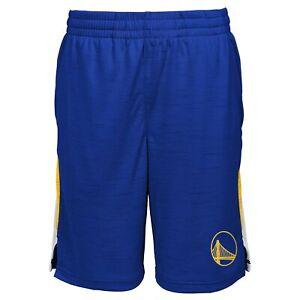 Outerstuff Golden State Warriors NBA Boys Kids Content Performance Shorts, Blue