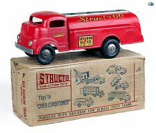 Original Vintage 1950's GMC Pressed Steel Structo 66 Gas Fuel Tanker Oil Truck