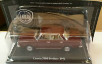 "DIE CAST "" LANCIA 2000 BERLINA - 1971 "" + TECA RIGIDA BOX 2 SCALA 1/43"