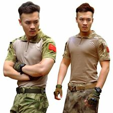 Men Army Combat Military Tactical Camouflage Short Sleeve T-Shirt Tops Shirt AU