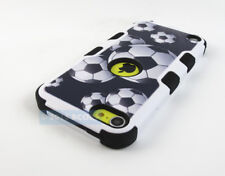 APPLE IPOD TOUCH 5 6 5TH 6TH GEN SOCCER BALL DESIGN TUFF IMPACT CASE C