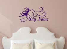 Personalised Magic Fairy Princess Stars Any Name Vinyl Wall Art Sticker Decal