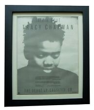 More details for tracy chapman+debut album+fast car+poster+ad+original 1988+framed+express ship