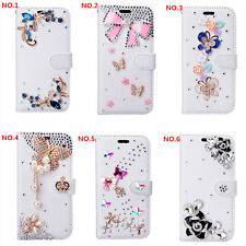 PU Leather Flip Bling Rhinestone Diamond Wallet Case Girl Cover For Moto Doogee
