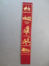 Leather BOOKMARK GIBRALTAR Europa Point Rock Ape Cable Cars The Rock Burgundy