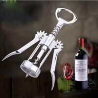 Stainless Steel Waiter Metal Wine Corkscrew Bottle Beer Cap Champagne Opener USA