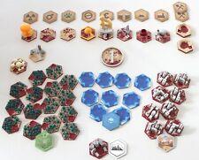 Multicolor Hexagonset für Terraforming Mars Brettspiel Fließen Sechsecke