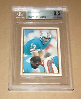 1984 Topps Stickers #222 Dan Marino BGS 8.5 NM-MT+ Fast Shipping!