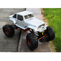 1/10th RC Car 250mm Wheelbase Body Shell for Wrangler D90 Axial SCX10 Silver