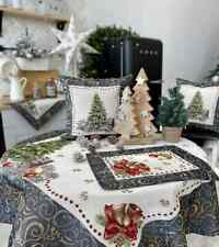 Christmas Tablecloth with Place Mat Table Runner Gobelin Table cloth New Year's