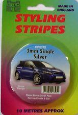 "Car Body Styling Pin Stripe 3mm (1/8"") Silver"