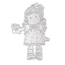 Little Girl Metal Cutting Dies Stencil DIY Scrapbooking Paper Cards Craft  New