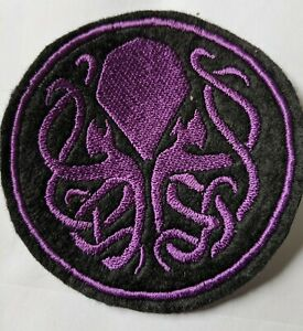 Cthulhu purple embroidered patch