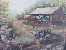 Vintage Original Marilyn Rea Chew Mail Pouch Tobacco Wood Framed Print