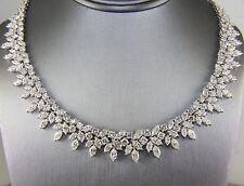 Fino Multi Forma Diamante Graduado Mujer Tenis Collar 18k Oro Blanco 46.72Ct