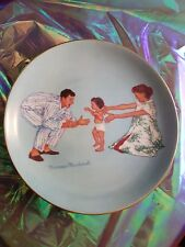 """Baby's First Step"" Decorative Plate The American Family Series Norman Rockwell"