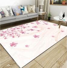 3D Pink Floral Blossom Non-Slip Rug Door Shower Play Mat Hearth Floor Carpet 402