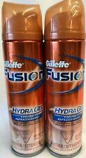 Gillette Fusion Hydra Gel Cooling Shaving Gel Lot of 2-7oz