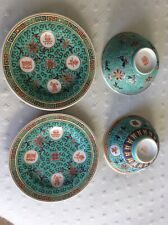 Two Oriental Cup/bowl & Saucer.