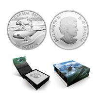 2016 $100 CANADA Orca Whale , FINE .9999 SILVER COIN (OGP/COA)