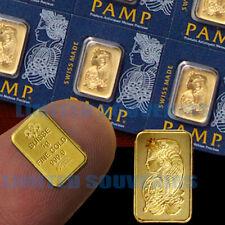 1 Gram 999.9 Pure Solid Fine Gold Bullion PAMP Bar Assay Certificate Barter 1g