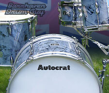 Autocrat, Vintage, Repro Logo - Adhesive Vinyl Decal, for Bass Drum Reso Head