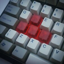 Rojo Translúcido en Blanco WASD Tecla Teclas Teclado mecánico Cherry MX Conjunto