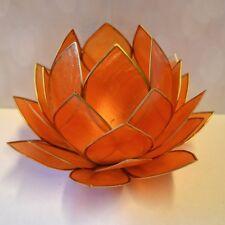 Lotus Atmospherisches Licht orange Goldrand groß