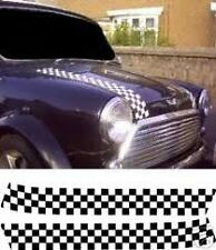 CLASSIC MINI CHEQUERED BONNET STRIPES- DECALS/STICKERS-ONE COLOUR CHECK SUPPLIED