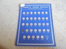 Near Mint 1938 Whitman Coin Board - Liberty Nickels - Partial Set - #012506