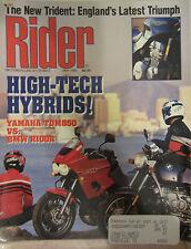 Rider Motorcycling Magazine May 1992 High-Tech Hybrids Yamaha TDM840 vs BMW R100
