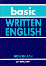 Good, Basic Written English, Shiach, Don, Book