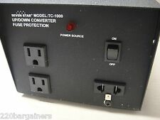 Seven Star TC1000 1000 Watt Voltage Converter Transformer 110-220 Volt