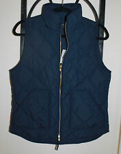 J.CREW NEW Excursion Vest Dark Navy Blue Quilted Down Puffer NWT XS