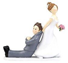 Centro torta cake topper sposi lei trascina lui originale