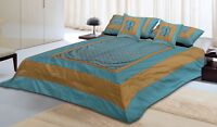Indian Brocade Silk Home Decor Bed Sheet Bed Cover Set 5 PC