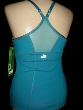 Alo Tank Top Bra Shelf Sustainable Moroccan Teal Coolfit Racer-back NWT S 32-34