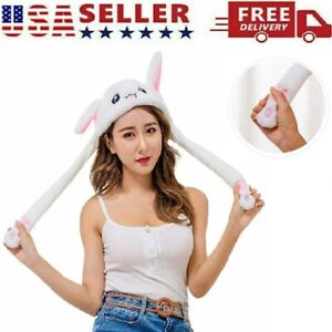 Rabbit Hat Hat Cute Bunny Ear Moving Jumping Plush Hat Cap for Women Girls Gift