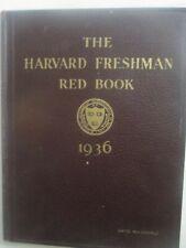 The Harvard Freshman Red Book - 1936