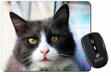 Pretty Black and White Cat Computer Mouse Mat Christmas Gift Idea, AC-80M