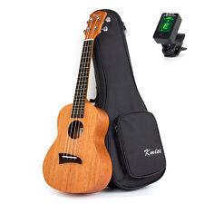 Kmise Concert Ukulele Uke Hawaii Guitar Mahogany 23 Inch W/Bag and Tuner