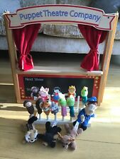ELC Wooden Folding Puppet Theatre Company & 15 Finger Puppets
