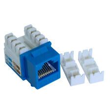 Wall plate: Keystone Jack - Cat 6 RJ-45 Networking  Blue