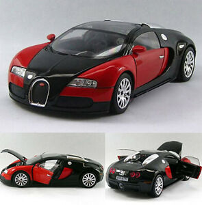 Bugatti Veyron 1:24 Alloy Diecast Limited Edition Model Toy Car Red&Black New