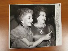 Vintage AP Wire Press Photo Actors Mary Martin & Ethel Merman, Somersaults