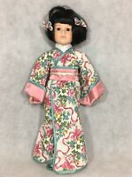 "Chinese 17"" Porcelain Girl Doll Hanfu Robe Kimono Floral Dress"