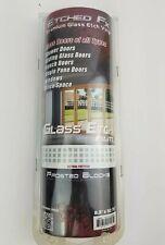 "ETCHED Fx Glass Door Etch Etching Vinyl Window Film FROSTED BLOCKS 8.3 x 52"" in"