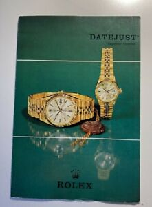 Rolex Oyster Perpetual Datejust 1967 Vintage Brochure - 1601